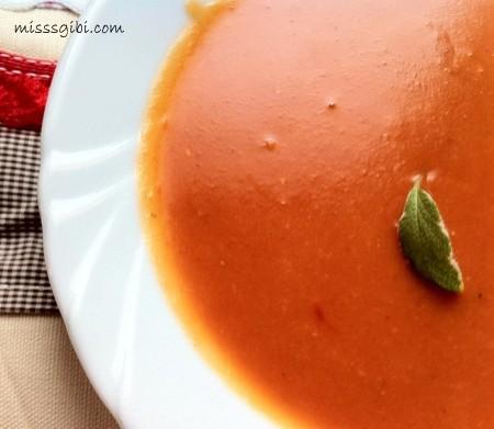 közlenmiş biber çorbası
