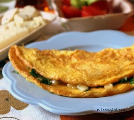 peynirli omlet