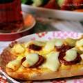 sandviç ekmeğinden pizza