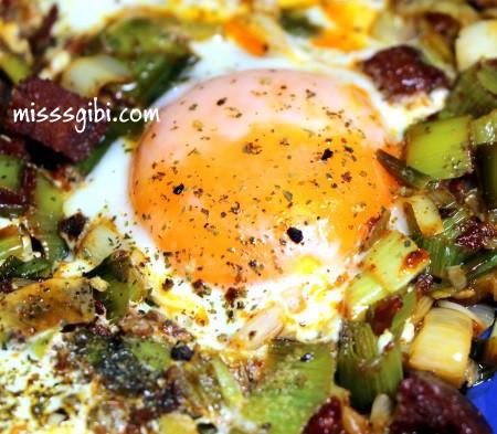 pırasalı yumurta
