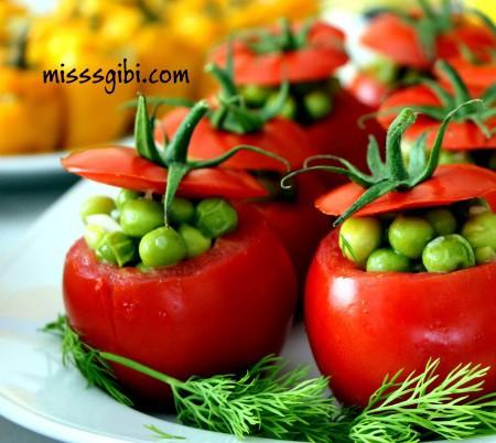 domates çanağında bezelye