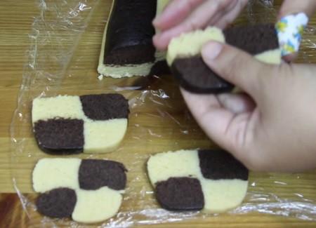 damalı kurabiyenin dilimlenişi