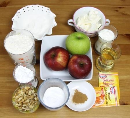 elmalı kurabiye malzemeleri nelerdir