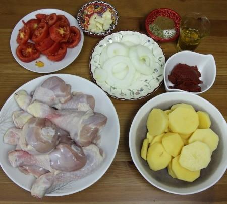 fırında tavuk malzemeleri